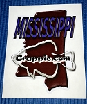 Crappie.com State Decal - Mississippi orig