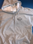 Hanes Hooded Crappie.com Zippered Sweatshirt - Sport Gray